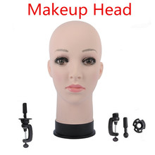 20.5″ Female Rubber Training Mannequin Head For Wig Hat Display Professional Cosmetology Bald Mannequin Head for Wig Making,Hair