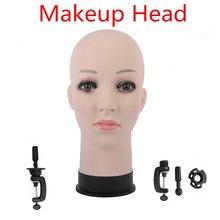 """20.5 """"женские резиновые обучение манекен головы для парик шляпа Дисплей профессиональной косметологии лысая голова манекена для парика решений, волос"""