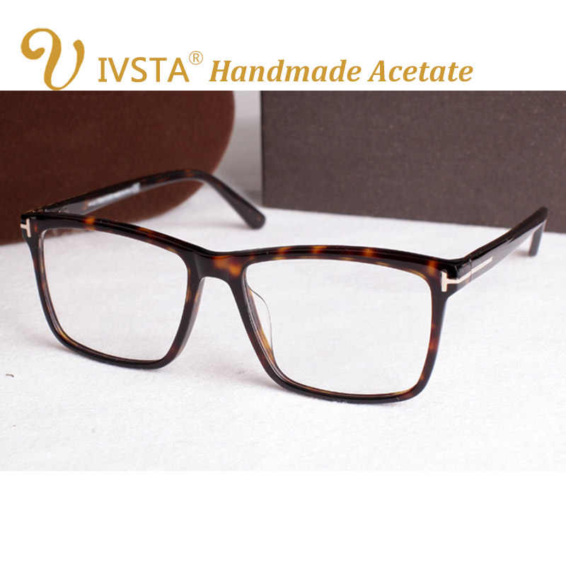 1b1ab955ef IVSTA TF 5147 5146 5040 5407 6123 with logo Real Handmade Acetate Spectacle Frame  Glasses Men