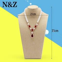 N & Z 35 см высокий Желтый Джут Цепочки и ожерелья цепь рама модели ювелирных изделий Дисплей полки Подвески на шею Jewelry Дисплей держатель