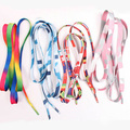 4 Pairs Frete grátis Moda Multicromáticas Sapatos Casuais Laços lona/esporte/Skate cadarços Rainbow cadarços gradiente