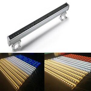 Image 1 - חיצוני חזית בניין מקרן 36 W IP65 DC24V אלומיניום LED מכונת כביסה קיר בר אור Led מבול אור חיצוני עבור מלון