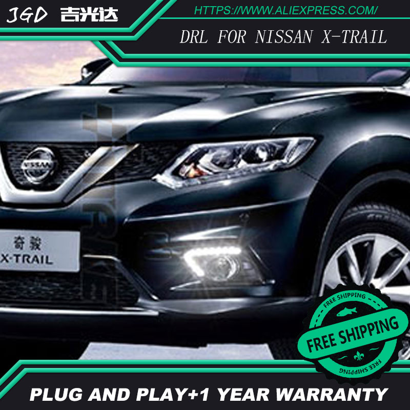 Case For Nissan x-trail Xtrail T32 2014 2015 2016 Daylight Car LED DRL Daytime Running Lights with turn signal Fog Lamp 2x led daytime running lights daylight turn signal drl lamp car styling light for ford ranger px mk2 2015 2016 2017 2018