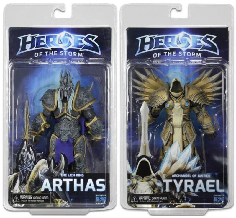 17cm Game WOW Dark Seraphim Tyrael Archangel The Lich King Arthas PVC Action Figure Toys Gifts Model Collections GS009