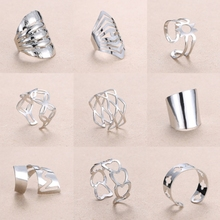 Rinhoo регулируемое Открытое кольцо в форме сердца из нержавеющей стали, женские вечерние кольца, ювелирные изделия