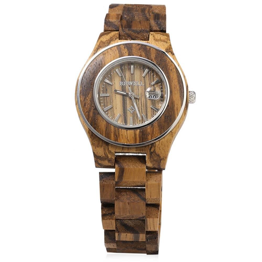 New Bewell Women Wooden Quartz Watch Female Fashion Wristwatches Calendar Luminous Pointer Ladies Elegant Feminino Masculino все цены