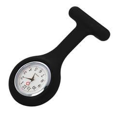 Timezone #501 Новый медсестры часы доктор портативный Fob Часы Броши силиконовая Туника батареи спецодежда медицинская часы медсестры кварцевые
