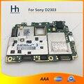 Original desbloqueado trabalho para sony xperia m2 s50h d2303 mainboard motherboard placa lógica com chips frete grátis