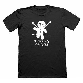 Thinking Of You Funny T shirt Voodoo Doll joke nerd t-shirt geek t-shirt for men