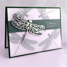 YaMinSanNiO 5Pcs/Lot Animal Dragonfly Metal Cutting Dies Scrapbooking for Card Making New 2019 Craft Butterfly Die Cuts Stencil