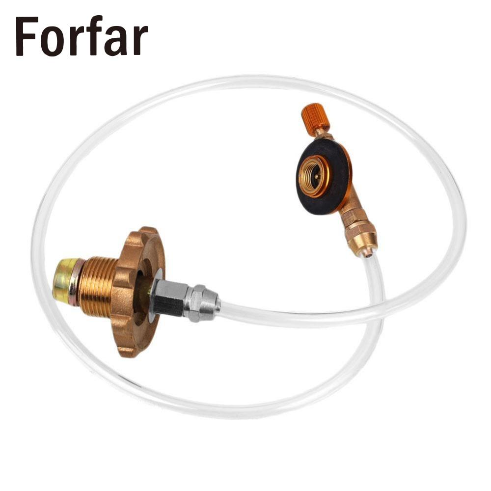 Forfar Portable Camping Brass Refill Adapter Gas Stove Cylinder Flat Bunner For Regulator BBQ Grill Outdoor