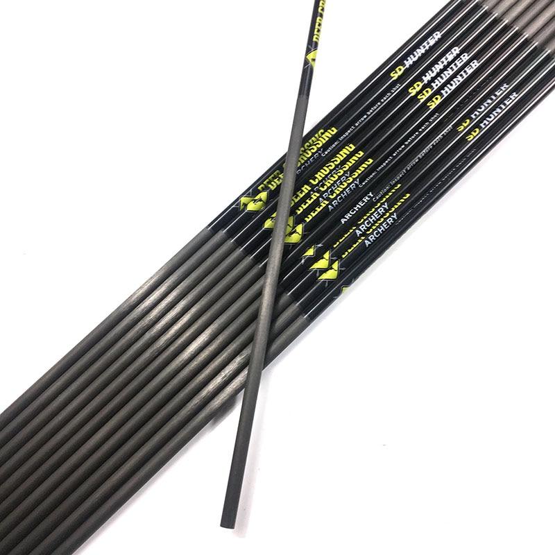 12pcs ID 4 2mm 31 spine 300 400 500 600 700 800 900 1000 Archery carbon