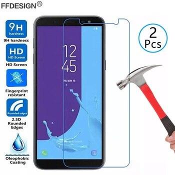 2x Tempered Glass Screen Protector Film Foil for Samsung Galaxy J3 J5 J7 2017 Eu 2016 J4 J6 Plus J8 2018 Glass Protection Film