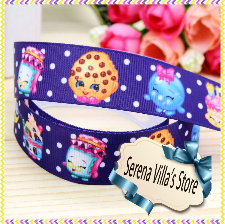 High quality printed ribbon 50 yards kids birthday gift paking 100% polyester single face