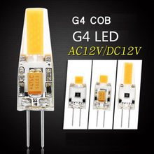 Dimmable Mini G4 LED Lampu COB LED 3W 6W DC 12V LED G4 Cob 360 ° Lampu Gantung Cahaya Ganti Halogen G4 Lampu(China)