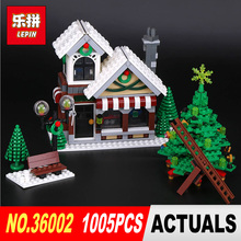 Lepin 36002 Genuine 1005Pcs Creative Series The Winter Toy Shop Set 10249 Building Blocks Bricks Educational Toys Christmas Gift