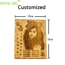 Custom-made wood engraving Creative printmaking for Children couples classmates DIY photo frame graduation Gifts children's Toys