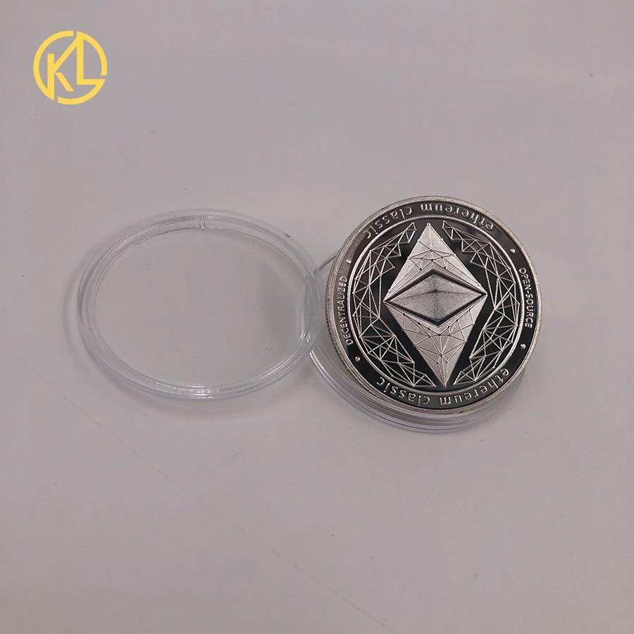 CO012 позолоченный эфириум классическая монета памятная монета художественная коллекция подарок физическая имитация из металла вечерние украшения для дома - Цвет: CO-012-2