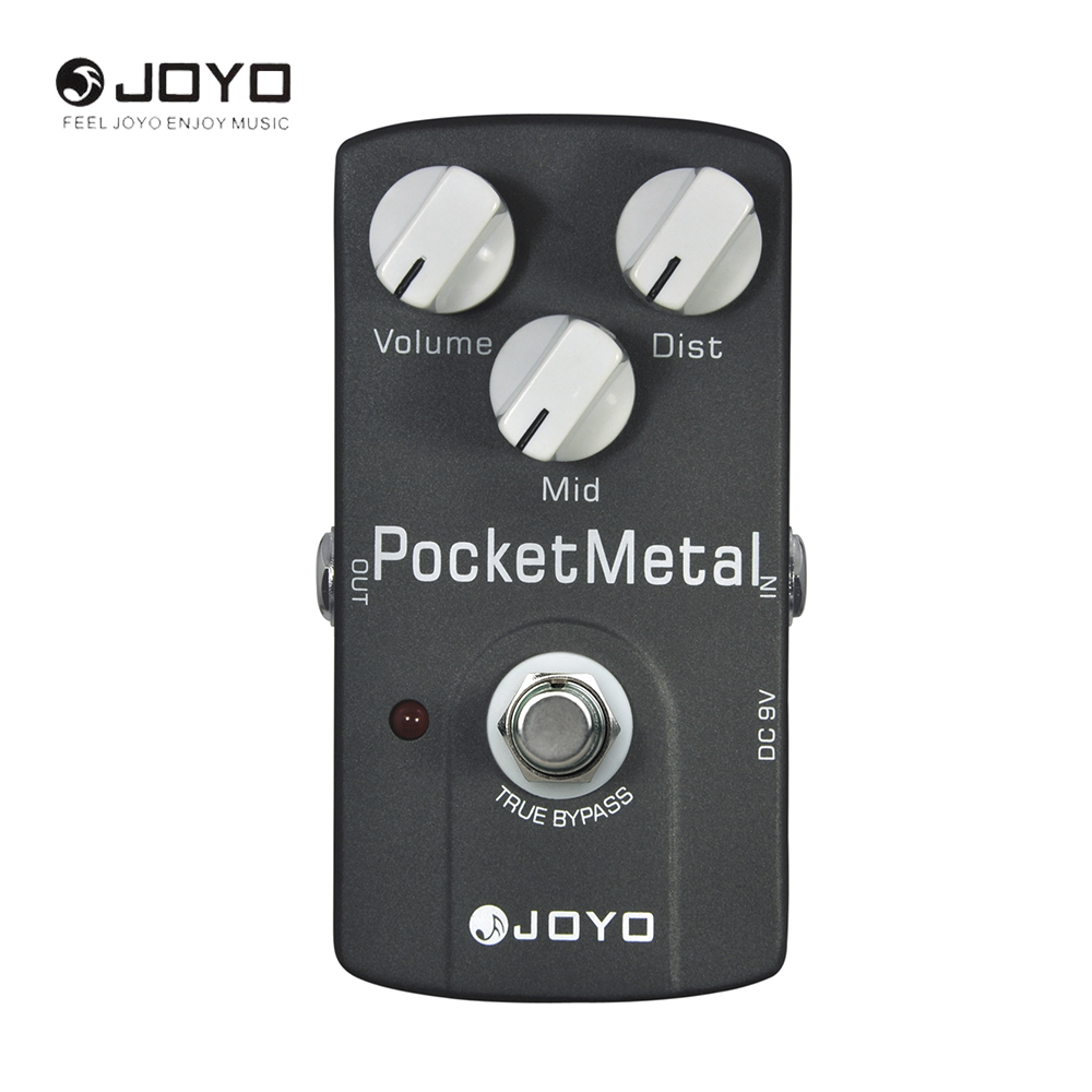 JOYO JF-35 Pocket Metal Electric Guitar Effect Pedal True Bypass Musical Instrument Guitar Accessories aroma adr 3 dumbler amp simulator guitar effect pedal mini single pedals with true bypass aluminium alloy guitar accessories