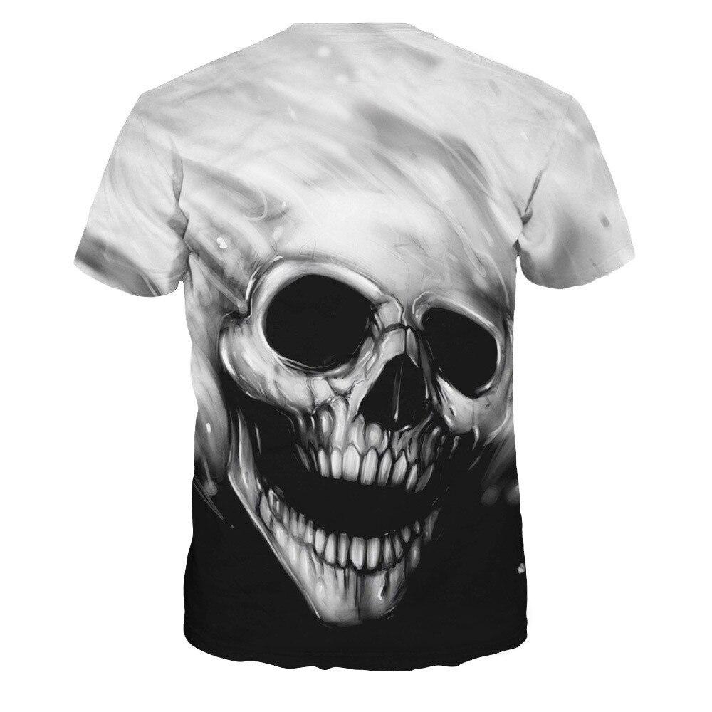 Mens Clothin Mens Lovers Skull g Printing Tee Short Sleeve T-Shirt Blouse Tops Fashion Cool Camisetas Hombre