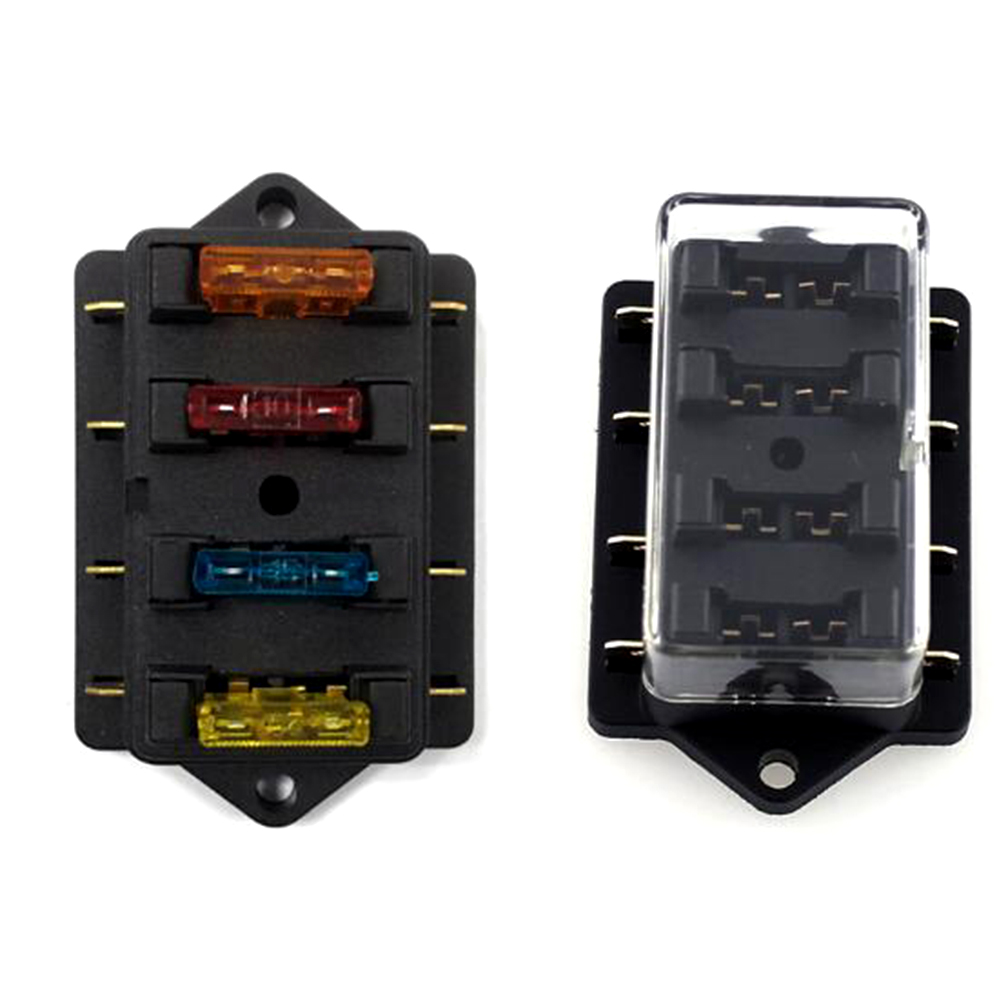 1pc 4 6 8 Way Waterproof Car Circuit Flat Plate Fuse Box Holder Elegant Accessory For Vehicle Truck In Fuses From Automobiles Motorcycles On