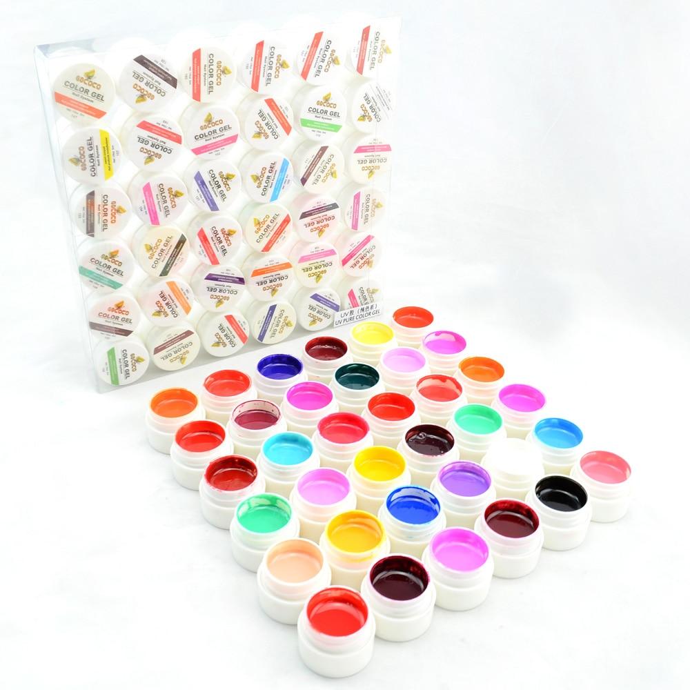 #20204 2016 nail salon use CANNI 36 color pure color uv gel kit, uv color paint gel kit,uv color gel kit