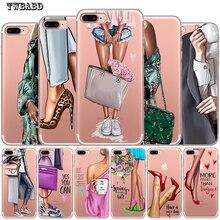 Чехол для iphone 8 модный прозрачный чехол для девушек и женщин для iphone 7 X XS Max XR 6 7 8 Plus 5S Новое поступление чехол Etui