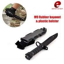 Espada de entrenamiento táctico M9, Cosplay, cuchillo de plástico, caza, supervivencia, goma, bayoneta de modelado con funda, Cosplay, CY337