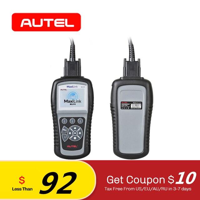 Big Sale Autel MaxiLink ML619 CAN OBD2 Scanner ABS SRS AirBag Automotive Car Diagnostic Tool EOBD OBDII Code Reader PK AL619 AL319