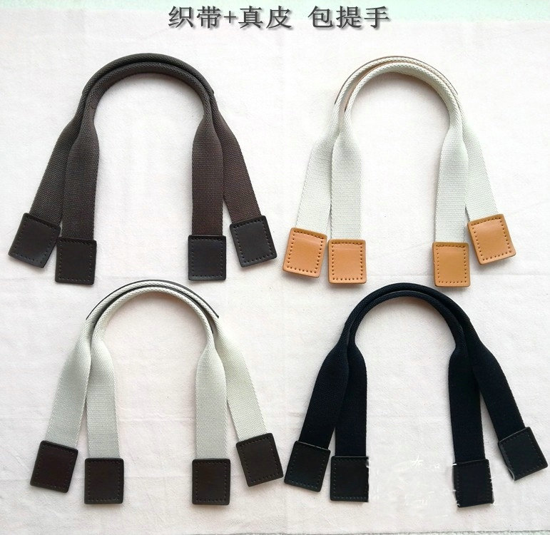 Us 8 06 Leather Bag Strap Handle Square Head Webbing Diy Sewing Handmade Hand Accessories 49cm 3cm In Parts From Luggage