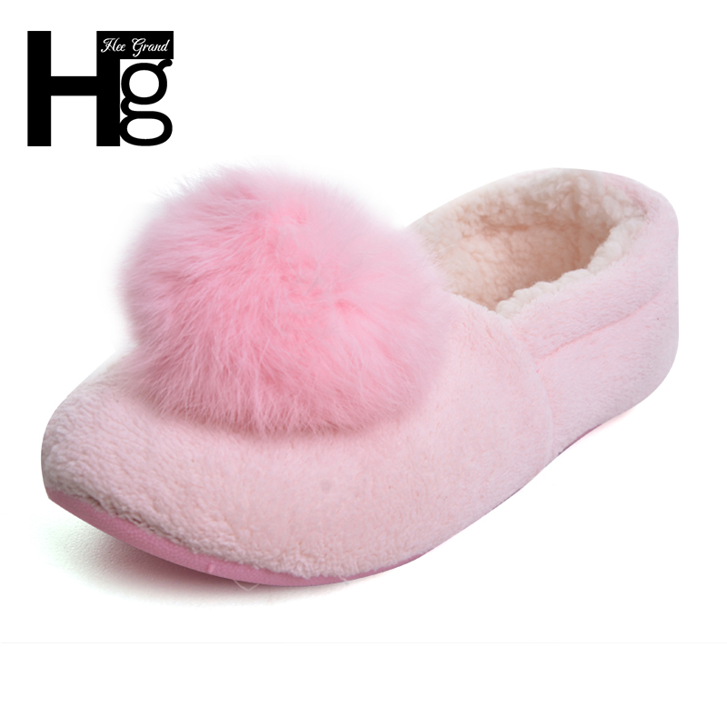 HEE GRAND Women Home Cotton Shoes Pregnant Ladies Winter Warm Cover Heel Floor Shoes for Wife or Office Ladies XWT535