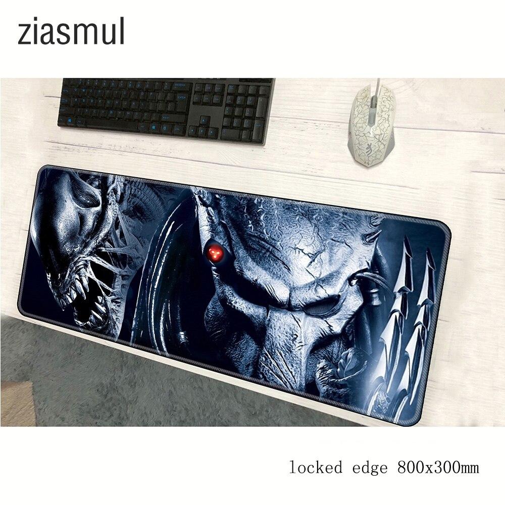 Ziasmul Predator Movie Keyboards Mat Rubber Gaming Mousepad Desk Mat Customized Laptop Gaming 80x30cm Locking Edge Mouse Pad