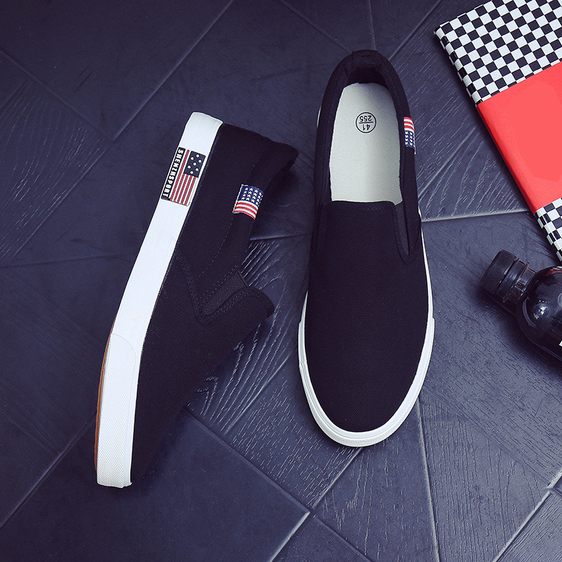 Sneakers bleu De Noir Slip Hommes Noir 47 Classique Chaussures Plates Mode Toile on Grande Sport blanc 2018 Confortable Taille 38 U4q7pwR