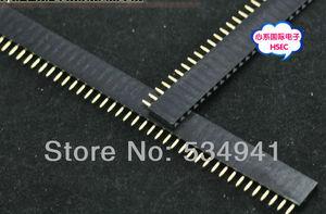 Image 2 - Ücretsiz Kargo Yüksek Kaliteli 4000Pins = 1*40 P 2.54 Pitch Tek Sıra Kadın Pin Header Konnektör/ 40P 2.54 konektörü 100 adet/grup