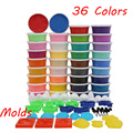 slime 36 Colors Play Dough Light Soft Colored Modeling Clay Model Magic Air Dry Playdough Plasticine Play Set with molds