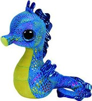 Ty Beanie Boos Neptune Seahorse TY Big Eyes Plush