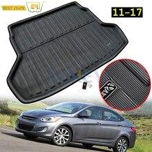 Para Hyundai acento Verna Solaris gran Avega Dodge actitud RB Sedan 2011-2015, 2016 de 2017 para maletero de Mat tronco bandeja de piso