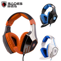 Free Shipping Sades A60 7 1 Encoding Audio Headset Vibration Usb Earphones