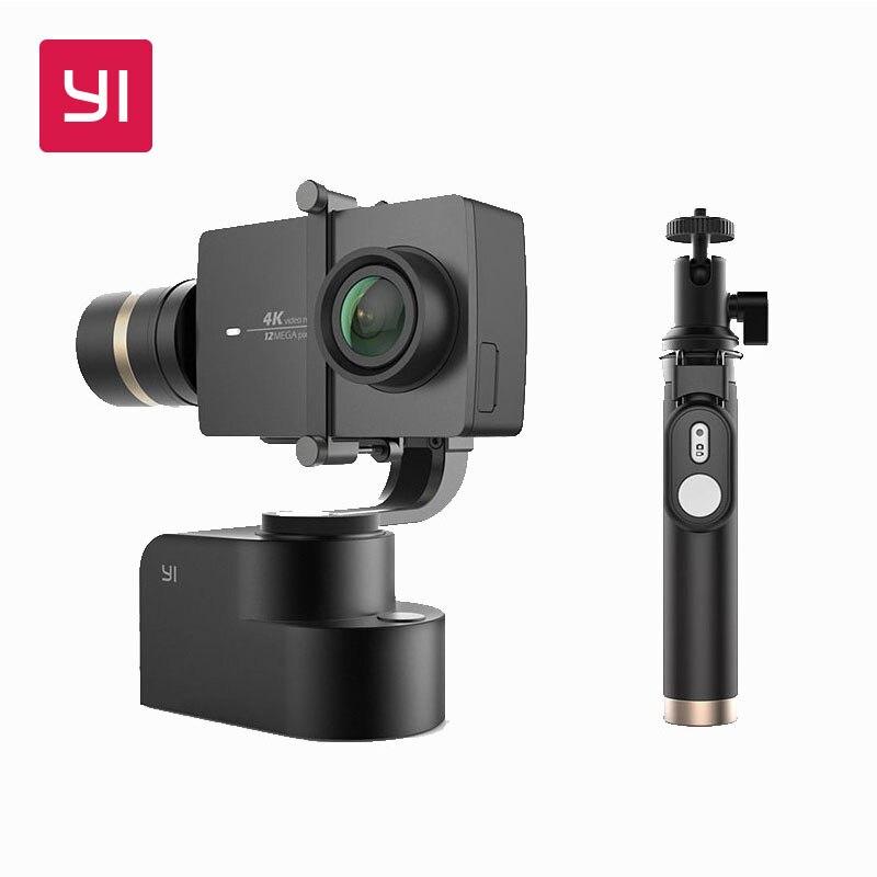 YI De Poche Cardan Avec YI 4 k D'action Caméra et Selfie Bâton & Bluetooth Remoter 3-Axe Pan/ tilt/Rouleau Réglage Manuel 320 Degrés
