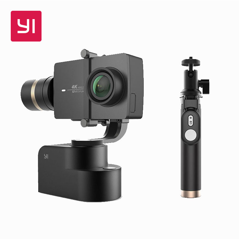 YI Handheld Gimbal Con YI 4 K Macchina Fotografica di Azione e Selfie Stick & Bluetooth Remote 3-Axis Pan/ tilt/Rotolo Manuale di Regolazione di 320 Gradi
