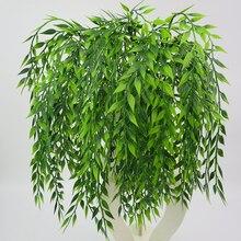 1 шт., 54 см, зеленое подвесное растение, искусственное растение, ива, настенное украшение для дома, украшение для балкона, цветочная корзина, аксессуары