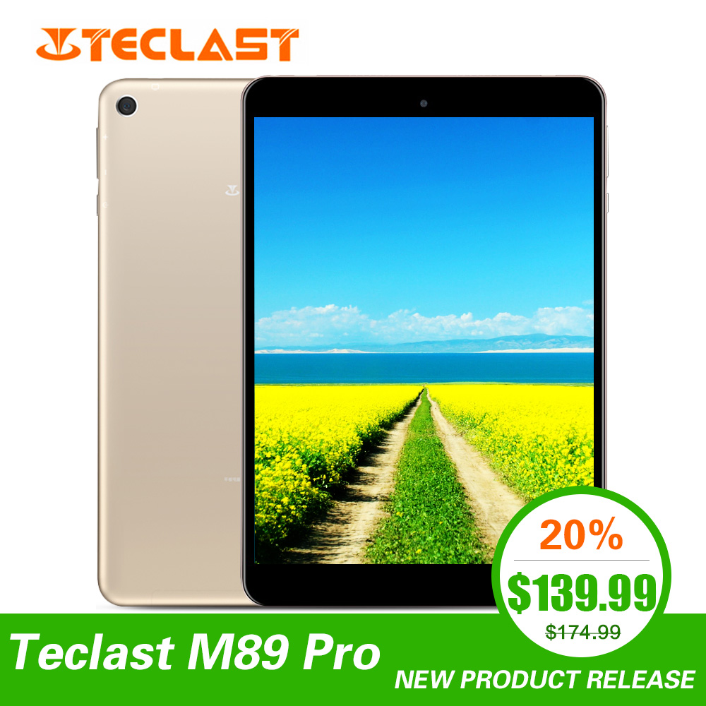 Mais novo Teclast M89 Pro 7.9 polegada 3GB de RAM GB ROM IPS X27 32 Deca Núcleo 2048x1536 Tipo -C 2.4G + 5G Dual-band Wi-fi De Metal Fino Tablet PC