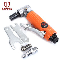 1/4inch pneumatic tools 90 Degree 6mm Pneumatic Air Angle Die Grinding Machine Cut Off Polisher Mill Engraving Tools Set 1 inch 90 degree small pneumatic polisher straight centricity grinding machine air sanding tool super longer straight model