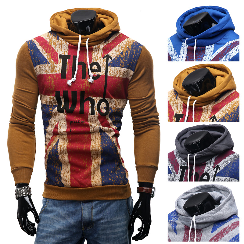 Spring/fall 2019 hot assassin letter printed cotton wool union flag training hoodies hip-hop sportswear men's casual hoodies image