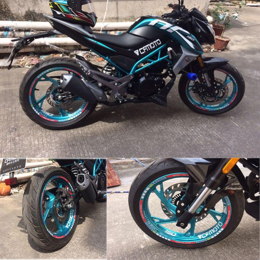 MTKRACING Motorcycle CFMOTO wheel decals Reflective stickers rim stripes motorbike for CFMOTO 400NK 650NK 250NK 125NK