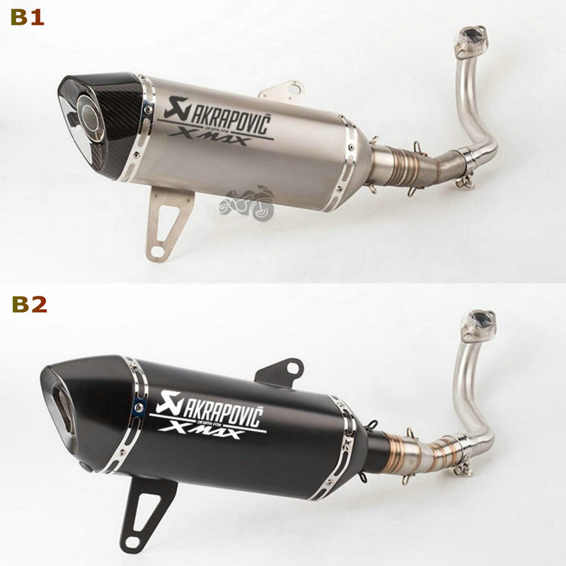 Image 4 - Akrapovic exhaust motorcycle Xmax 250 Modified Exhaust Muffler Xmax 300 Slip On For YAMAHA Xmax Series Scooters 2017 2019-in Exhaust & Exhaust Systems from Automobiles & Motorcycles
