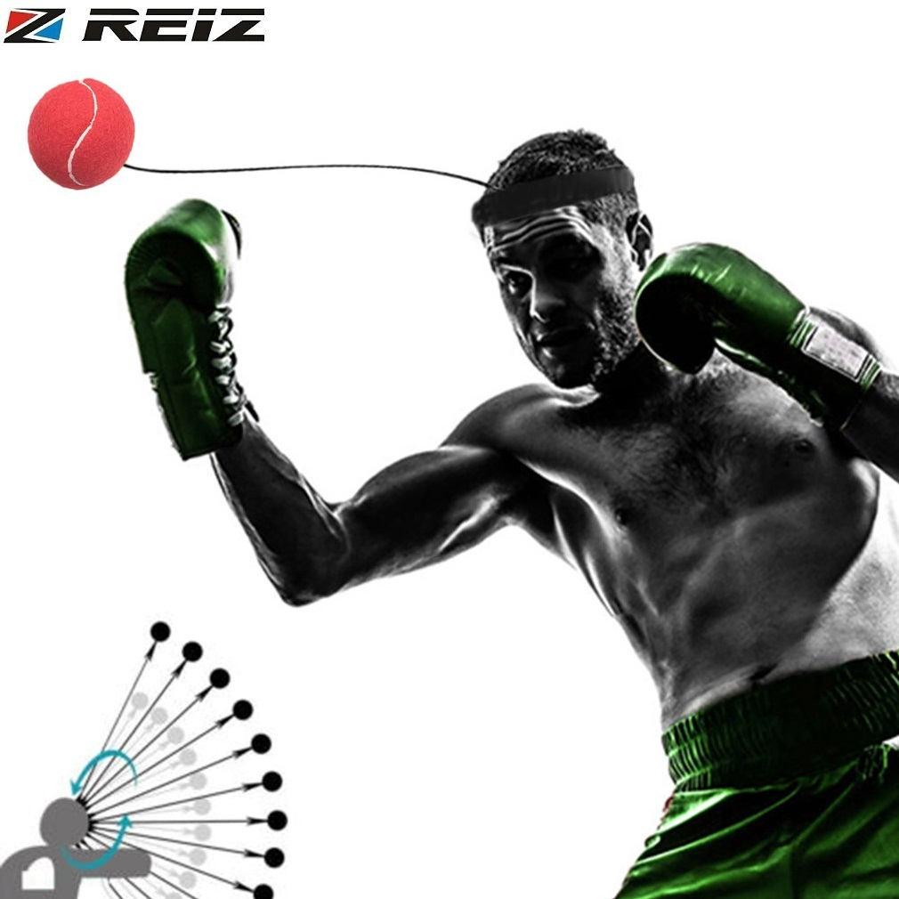 REIZ Fight Boxing Ball With Head Band Quick Response Speed Training Boxing Punch Muay Thai Sports Exercise Equipment E303