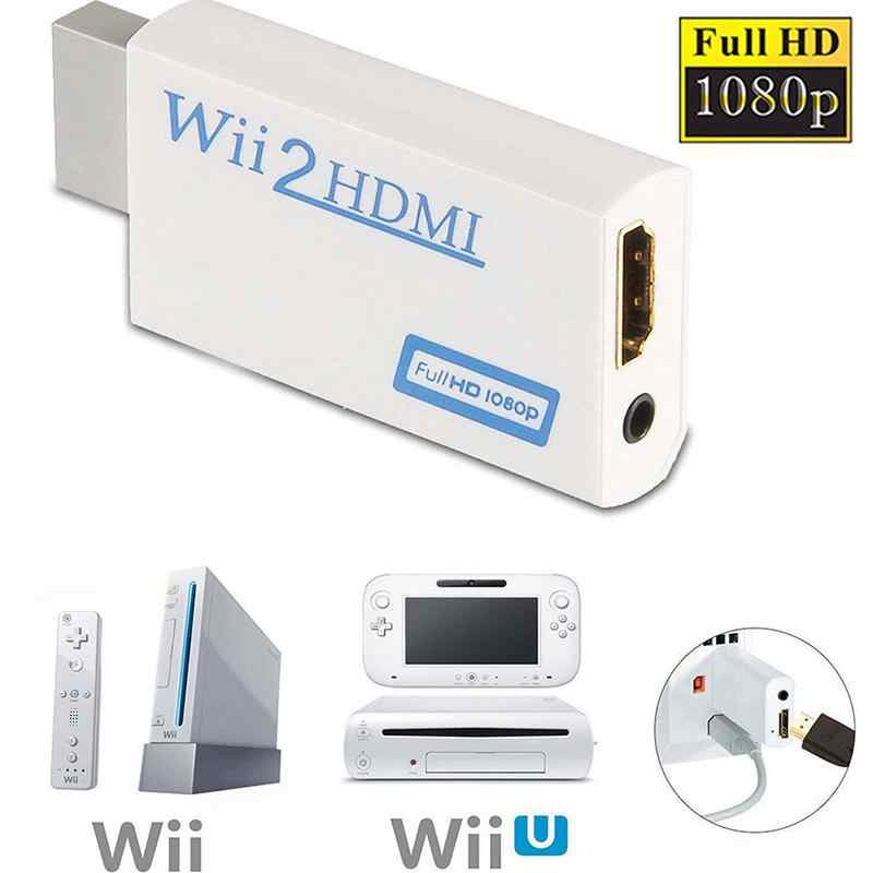 Beesclover 720P 1080P Full HD HDTV Wii untuk HDMI Video Converter Adaptor