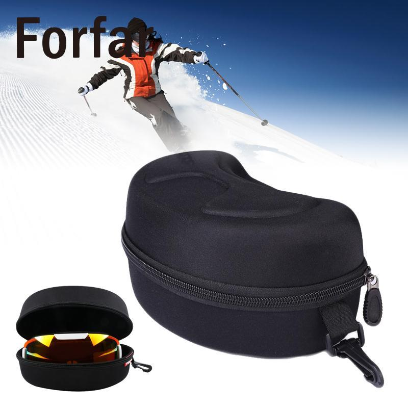 Glasses Box Carry Storage Zipper Case For Spherical Ski Snowboard Skiing Goggles Outdoor Tool