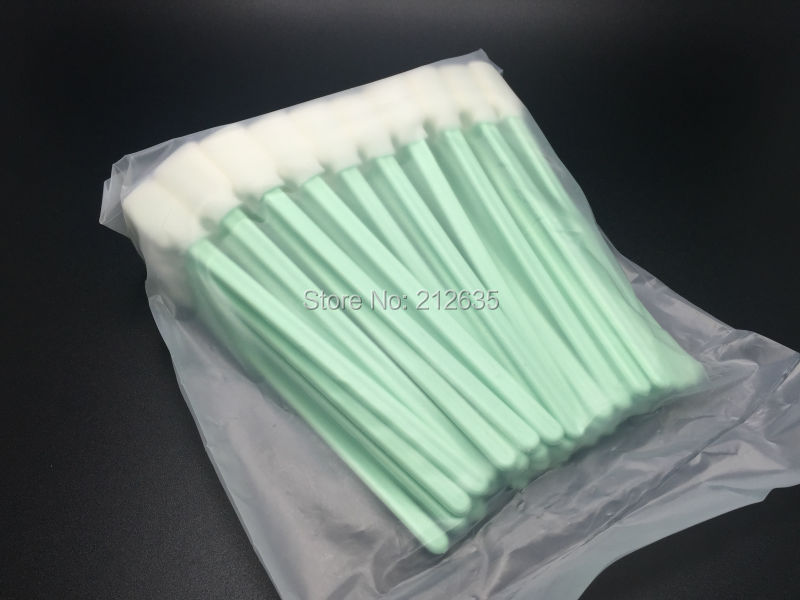 200 pcs Solvent Cleaning swabs Sticks DX2 DX4 DX5 DTG Print Head Cleaning ( Better than Printer Cotton Swabs )